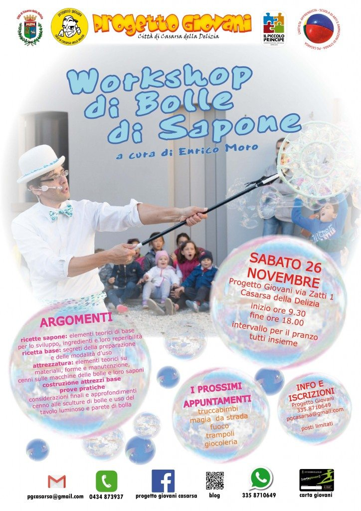 workshop bolle di sapone 2016
