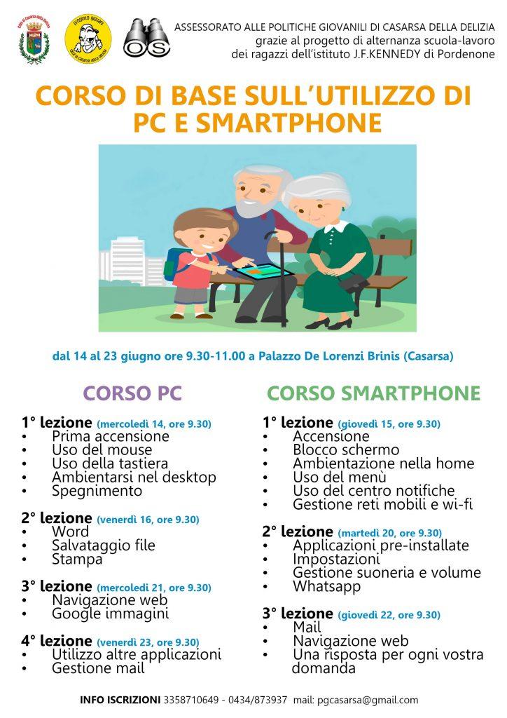 CORSO BASE SULL'UTILIZZO DI PC E SMARTPHONE